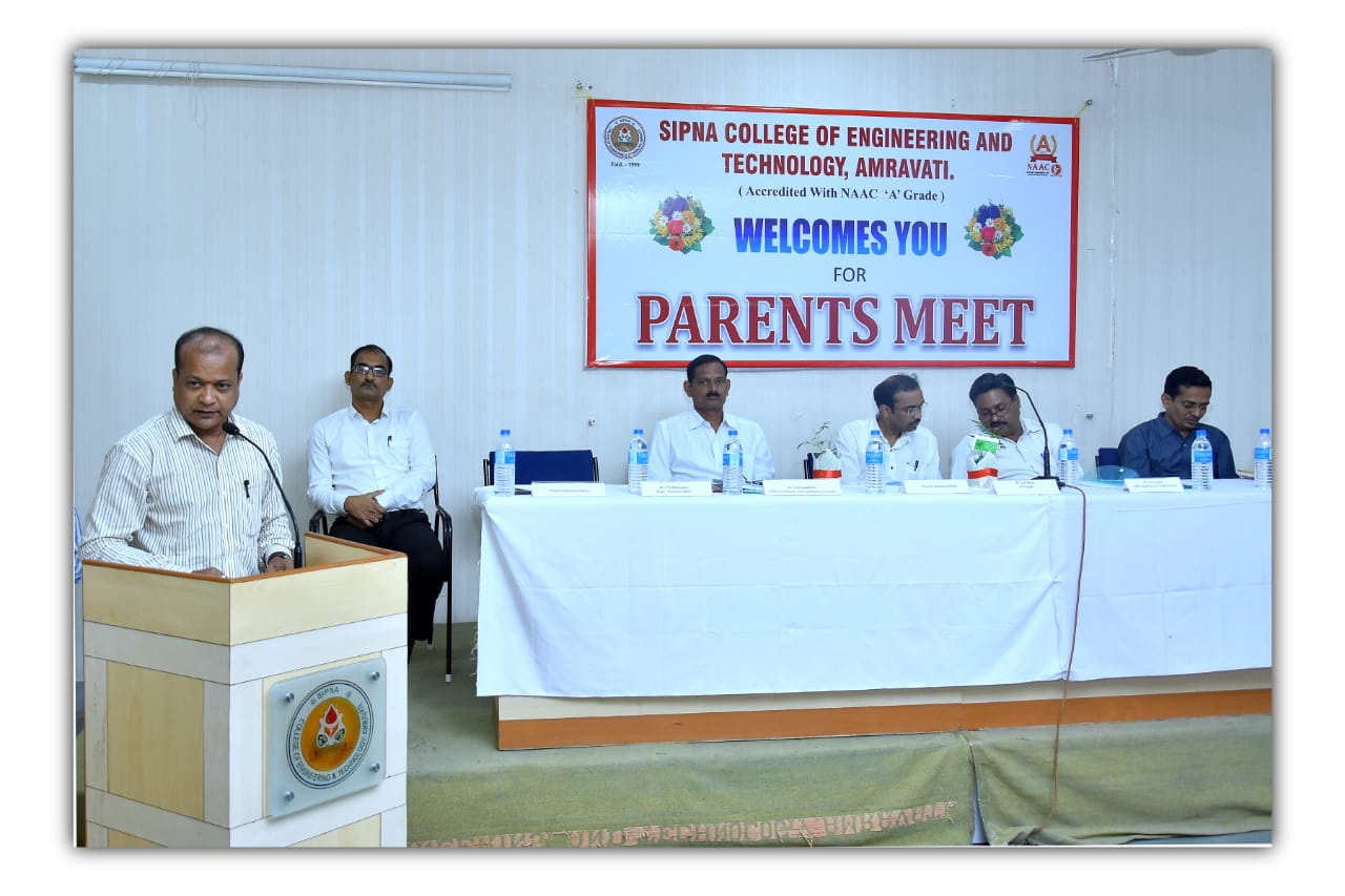 Parents Meet is organized on 08/09/2018
