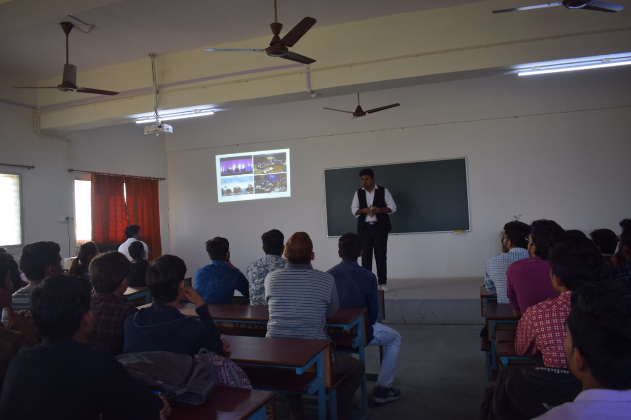 """A Seminar on """"Being A Winner"""" for III & II year students on 09th January, 2019 by chief guest Mr. Abhishek Darange"""