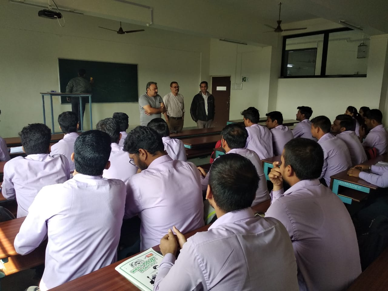 Courtesy Visit by Mr. Rumit D. Dave, DGM Gmmco CAT Ltd. for III & IV year students on 10th January, 2019