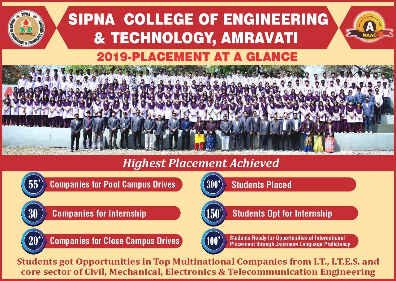 Placement Information | Sipna Engineering College Amaravati