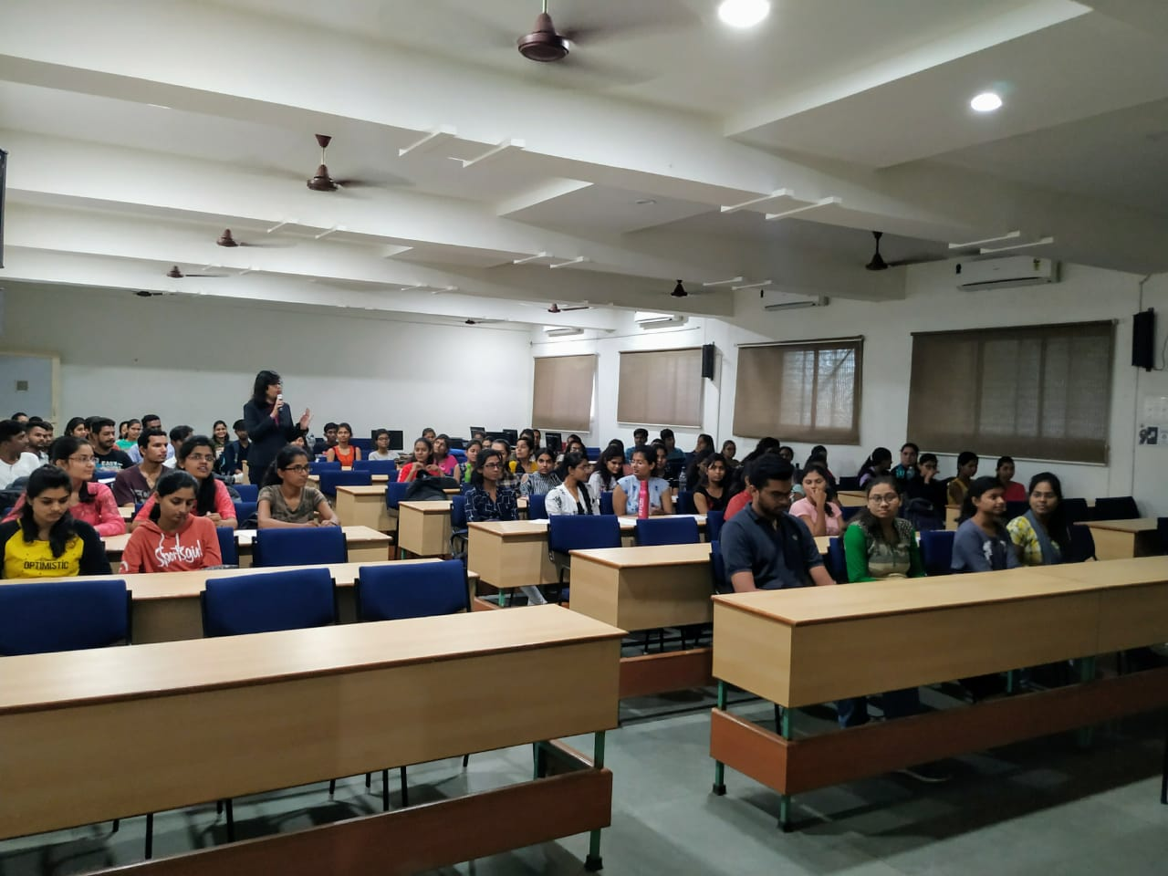 "Seminar On ""Effective Communication and Hacks in Interview""by Ms. Pinky Khandelwal (Director, Khandelwal English Hub, Amravati) for III Year Students on 07/08/2019"