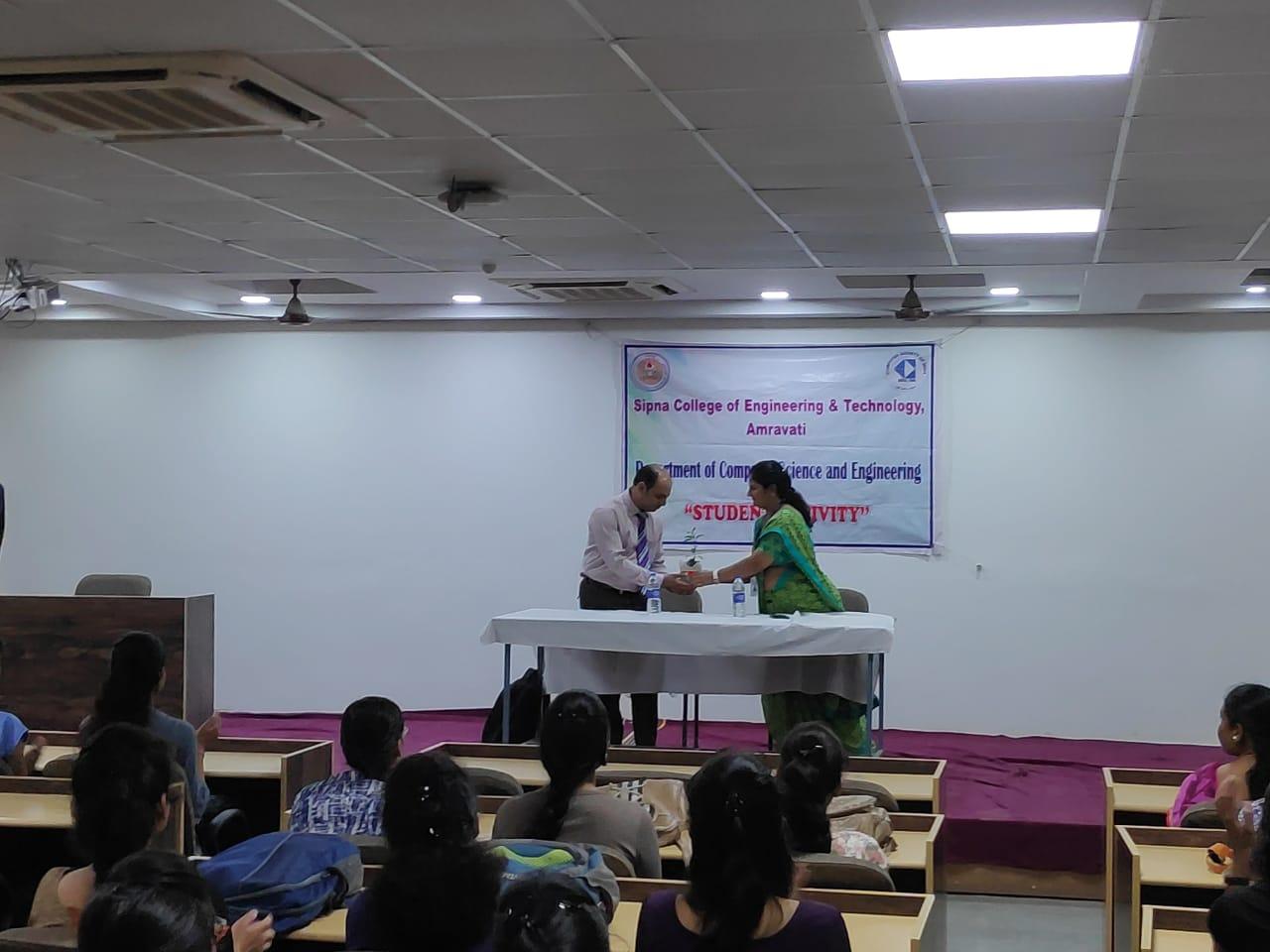 "Seminar on ""Career Guidance"" by Mr. Aniruddha Shukla Manager,Mumbai Educational Trust,Bhujbal knowledge city,Mumbai for final year on 28/08/2019"