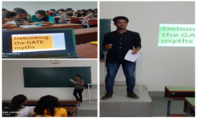 A seminar on Debunking The GATE myths(By 3rd Year Student Activity Coordinators) on 7th Aug 2019