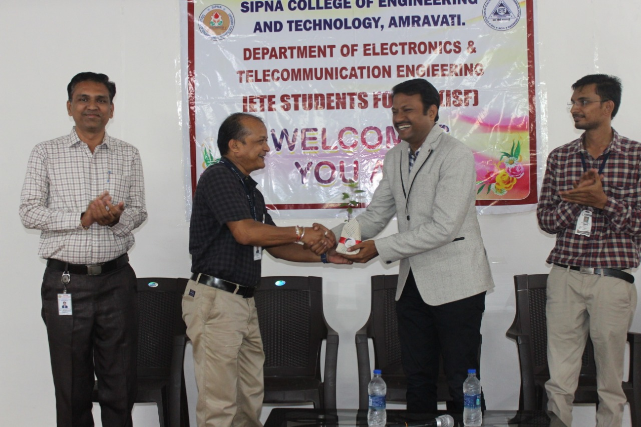 One day workshop on Arduino & Sensor Interfacing by Mr. Mangesh Bharati, MDB Electrosoft Pvt. Ltd., Amravati on 29th Aug 2019