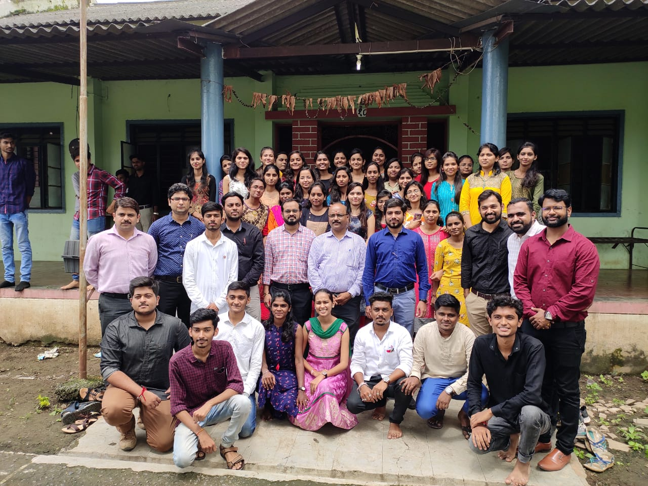 Teacher' s day is celebrated on 5th September by Department of I. T. and its students, celebrated this day in a social way. This time, the students along with the teachers went to Matoshri Old Age Home, with all the residents of Old Age Home.